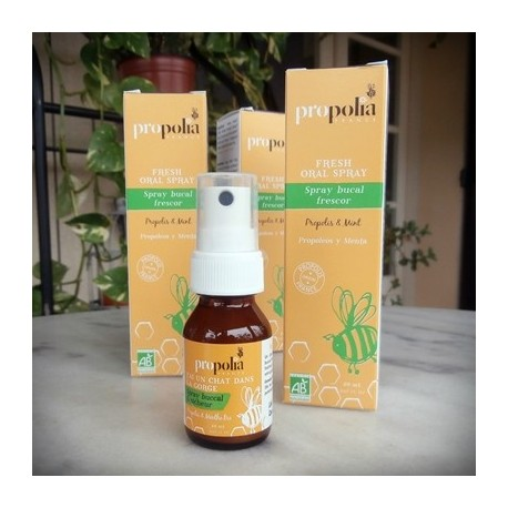Organic Propolis, Mint Throat Spray