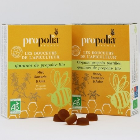 Organic Propolis, Honey & Rosemary Gum Drops